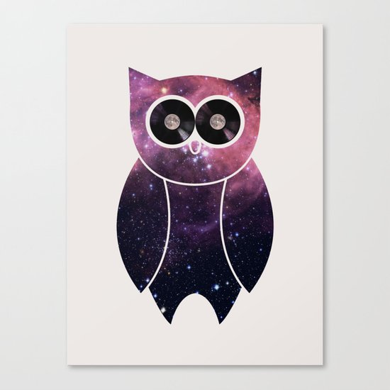 Owl Night Long Canvas Print