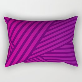 Pink and Purple Lines Geometric Abstract Design Rectangular Pillow