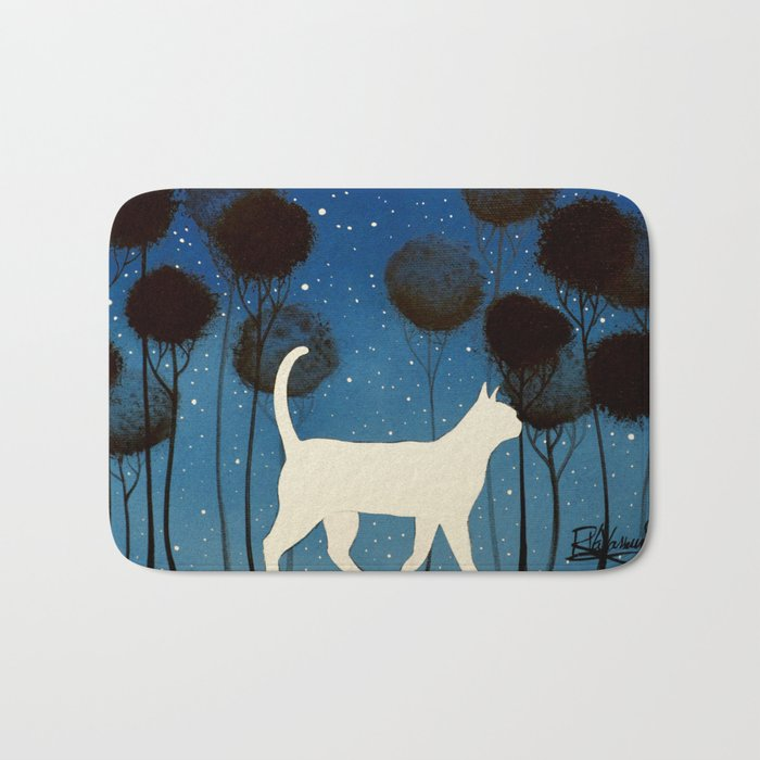 THE POETRY OF A NIGHT by Raphaël Vavasseur Bath Mat
