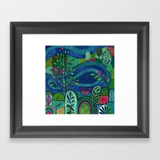 Bird by the Pond Framed Art Print