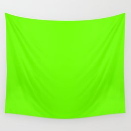 Bright Fluorescent  Green Neon Wall Tapestry