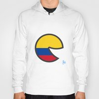 colombia Hoodies featuring Colombia Smile by onejyoo