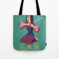 mulan Tote Bags featuring Mulan by Angelus