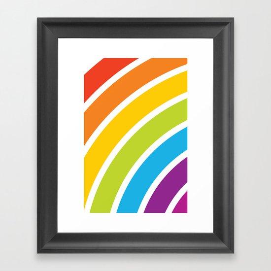 A Rainbow World Framed Art Print