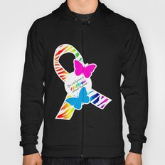 You can't have a Rainbow without the Rain - Awareness Ribbon - Commissioned Work Hoody
