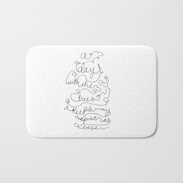 a day with the trees Bath Mat