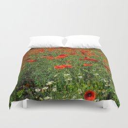 Cornfield Poppies  Duvet Cover