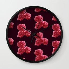 Bleeding Roses Wall Clock