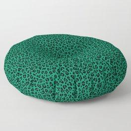 LEOPARD PRINT in GREEN | Collection : Leopard spots – Punk Rock Animal Print Floor Pillow