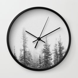 PINE TREES Wall Clock