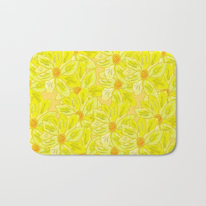 Painted Flower Bath Mat