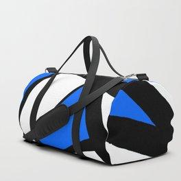 China Blue Geometric Triangle Abstract Duffle Bag