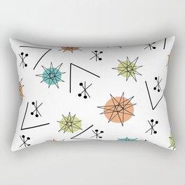 Mid Century Modern Sputnik Starburst Planets 1 Rectangular Pillow