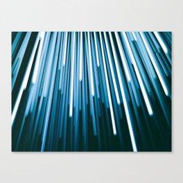 Hyperspace Fiber Optics Blue white Streaks Of Light Canvas Print