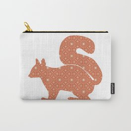 SQUIRREL SILHOUETTE WITH PATTERN Carry-All Pouch