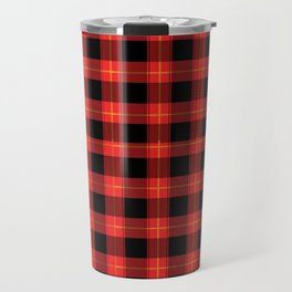 Red Buffalo Plaid Flannel Pattern Travel Mug