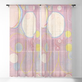 """Hilma af Klint """"The Ten Largest, No. 08, Adulthood, Group IV"""" Sheer Curtain"""