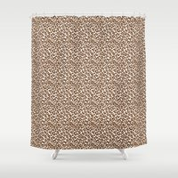 leopard Shower Curtains featuring Leopard by Zen and Chic