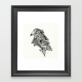 bird lines Framed Art Print