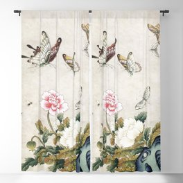 Butterflies and flowers : Minhwa-Korean traditional/folk art Blackout Curtain