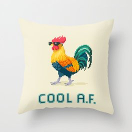 Cool Rooster Throw Pillow
