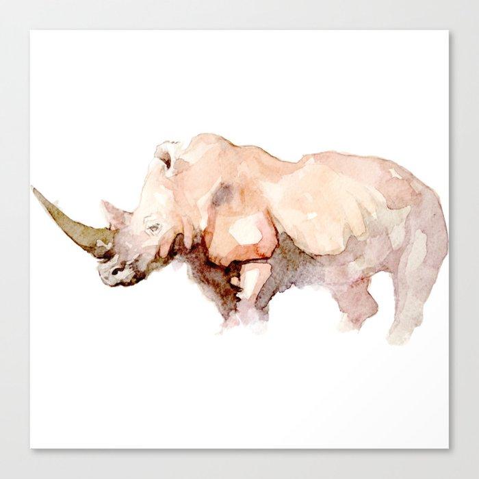Rhino Watercolor Handmade Painting Leinwanddruck