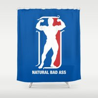 nba Shower Curtains featuring NBA by Free Specie