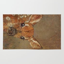 fawn in the wood Rug