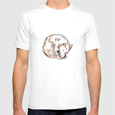 Tero Sleeping I White SMALL Mens Fitted Tee