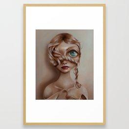 Miss Vanilla Framed Art Print