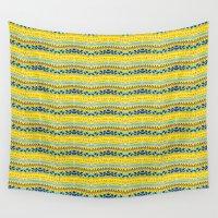 lemon Wall Tapestries featuring Lemon summer  by Akwaflorell