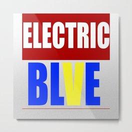 The Eletric Blve / rainbow Logo Metal Print