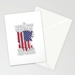 I Have Two Titles Veteran Dad And I Pick Them Both For Pats print Stationery Cards