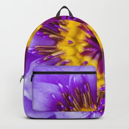 Blue Lotus Close Perspective Backpack