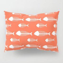Bright Orange Skeleton Pattern Design Pillow Sham