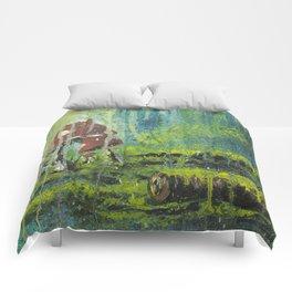 Mushroom Forest Floor Comforters