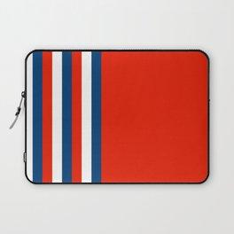 Retro Stripes Pop Art - Red White Blue Laptop Sleeve