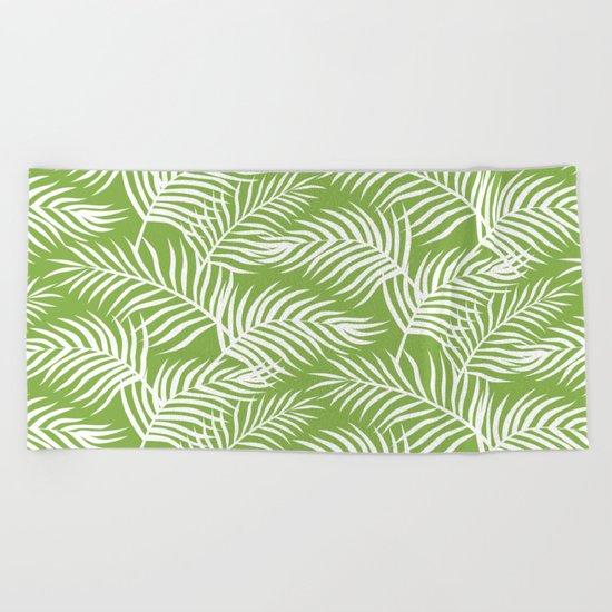 Palm Leaves_Greenery Beach Towel