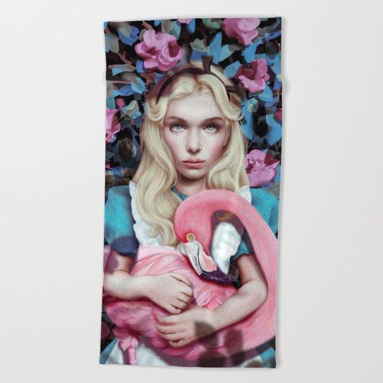 """Alice in Wonderland"" by Giulio Rossi Beach Towel"