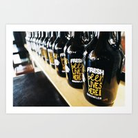 Fresh Beer Lives Here, Good George Brewing, Hamilton, NZ Art Print