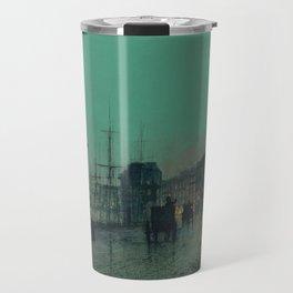 John Atkinson Grimshaw - Shipping on the Clyde Travel Mug