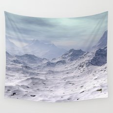 Snow Covered Mountains Wall Tapestry
