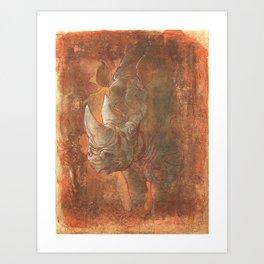 Endangered Series Rhino Art Print