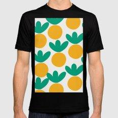 Minimalist Fruit Summer Pattern Black Mens Fitted Tee MEDIUM