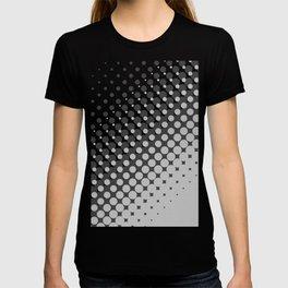 Dark grey and light grey halftone pattern T-shirt