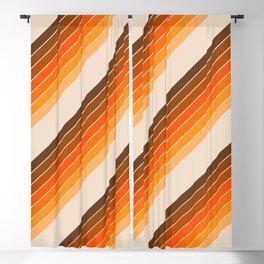 Tan Candy Stripe Blackout Curtain