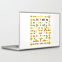 pac man Laptop & iPad Skins featuring Pac-Man Boogie Woogie by Jake Friedman