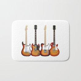 Four Electric Guitars Bath Mat