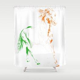 Irish Pride Horse Shower Curtain