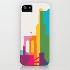 Shapes of Brooklyn. Accurate to scale iPhone (5, 5s) Slim Case